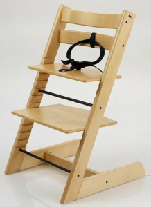 KinderZeat with the three-point harness | History of the Stokke Tripp Trapp Chair