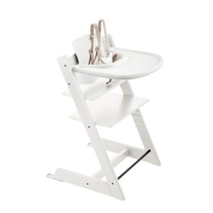 Stokke Tripp Trapp with 5-point harness, baby set, and tray. | History of the Stokke Tripp Trapp Chair
