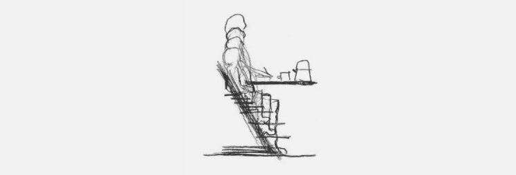 An early Tripp Trapp development sketch by Peter Opsvik | History of the Stokke Tripp Trapp Chair